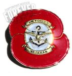 Armed forces remembrance pin